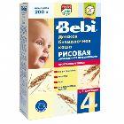 Каша рисовая низкоаллергенная, обогащённая пребиотиками «Bebi», безмолочная (200г.)