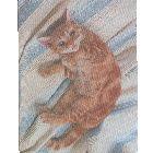 Коврик для мыши «Спящая кошка», шелковый