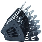 Лоток для бумаг «Эсир», 6-секц.320мм, черный (2С71)