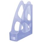Лоток для бумаг «Стамм Парус», вертикальный, тонированный голубой, 8см (ЛТ136)