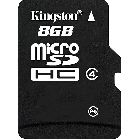 MicroSD «Kingston», 8Gb Class 4