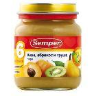 Пюре киви, абрикос, груша «Semper» (135 г.)