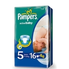 Подгузники «Pampers Active Baby 5» Junior 11-25 кг (16 шт.)