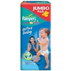 Подгузники «Pampers Active Baby 6» Extra Large 16+ кг (54 шт.)