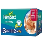 Подгузники «Pampers Active Baby 3» Midi 4-9 кг (112 шт.)