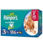 Подгузники «Pampers Active Baby 3» Midi 4-9 кг (186 шт.)