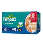 Подгузники «Pampers Active Baby 4» Maxi 7-18 кг (99 шт.)