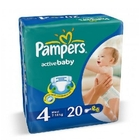 Подгузники «Pampers Active Baby 4» Maxi 7-18 кг (20 шт.)