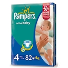 Подгузники «Pampers Active Baby 4» Maxi 7-18 кг (82 шт.)