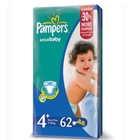 Подгузники «Pampers Active Baby 4» Maxi+ 9-20 кг (62 шт.)