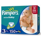 Подгузники «Pampers Active Baby 3» Midi 4-9 кг (150 шт.)