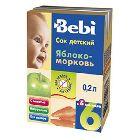 Сок «Bebi» яблочно-морковный с мякотью, (200 мл)
