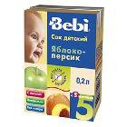 Сок «Bebi» яблочно-персиковый с мякотью, (200 мл)