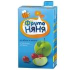 Сок «ФрутоНяня» из яблок и вишни с мякотью, (500 мл)