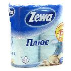 Туалетная бумага «Zewa Plus» 2сл, голубая (4шт)